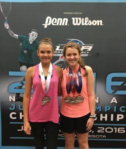 Marina and Emma Kernan at 2016 Junior Olympics