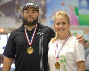 Sue Patterson & Kooper Buchanan - Mixed Elite Doubles Winners