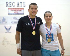 Cristina Amaya & Sebastian Franco - Mixed Open Doubles Winners